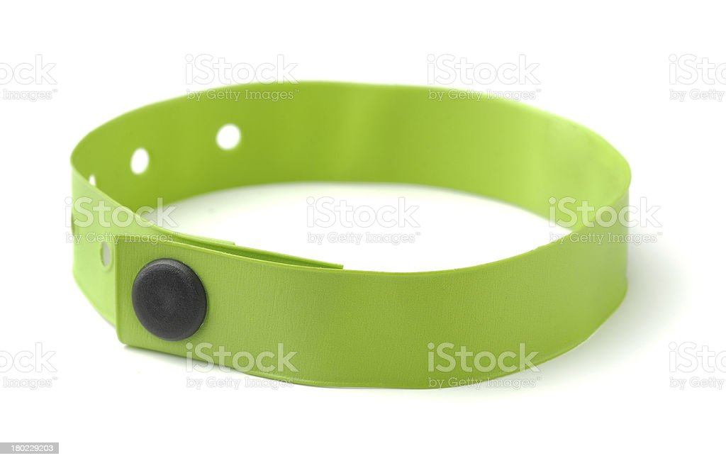 ID wristband stock photo