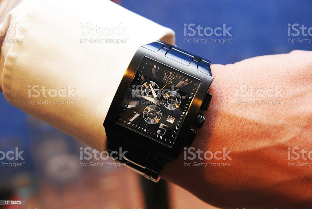 wristwatch - Arbmanduhr und Hemd stock photo