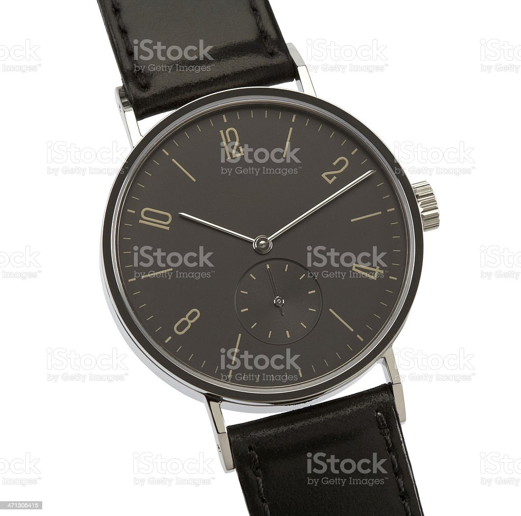 Wristwatch isolated on white with clipping path royalty-free stock photo