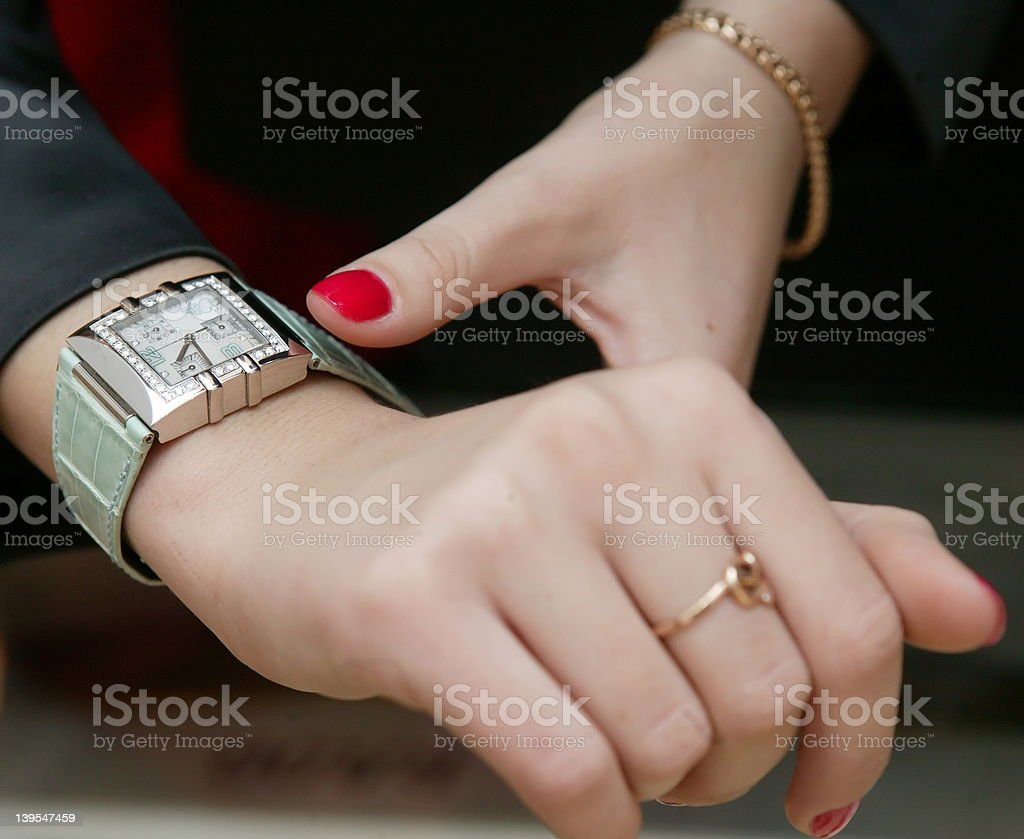 wrist-watch royalty-free stock photo