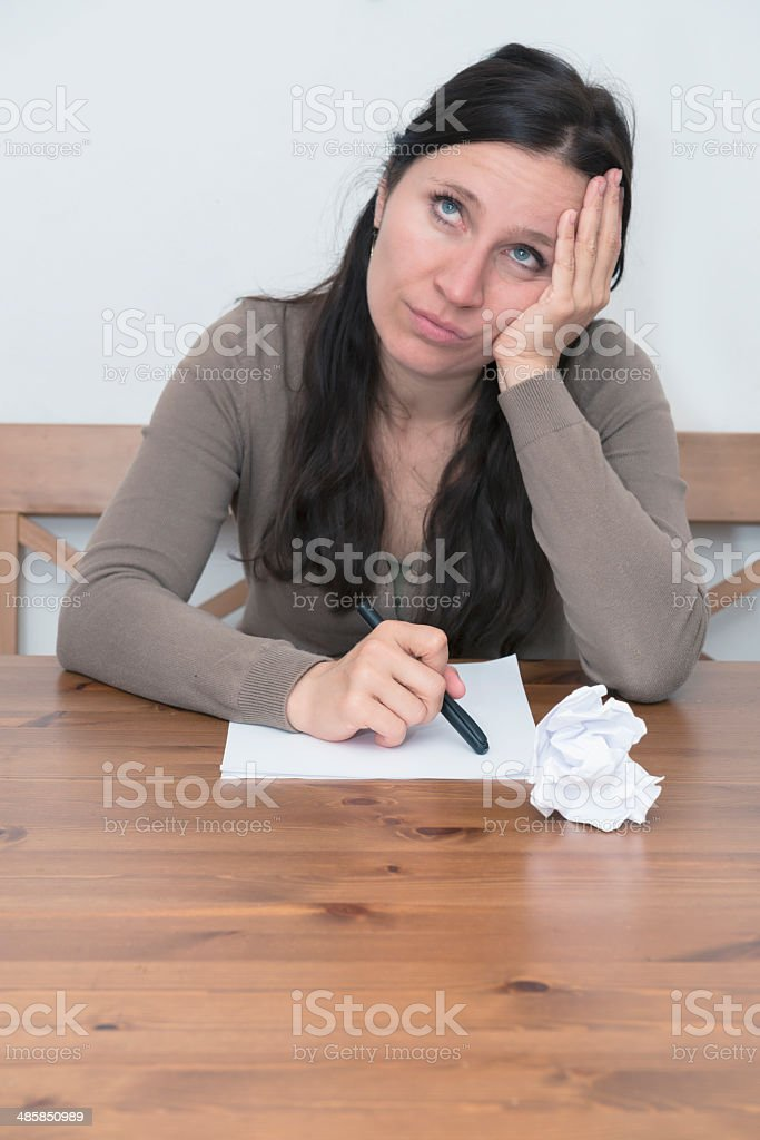 write a letter stock photo