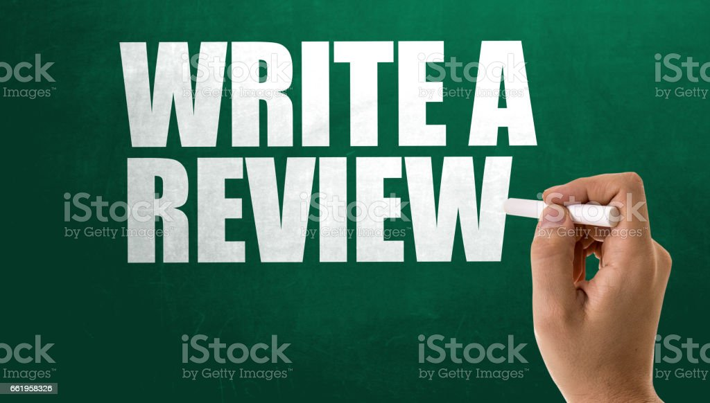 Write a Review stock photo