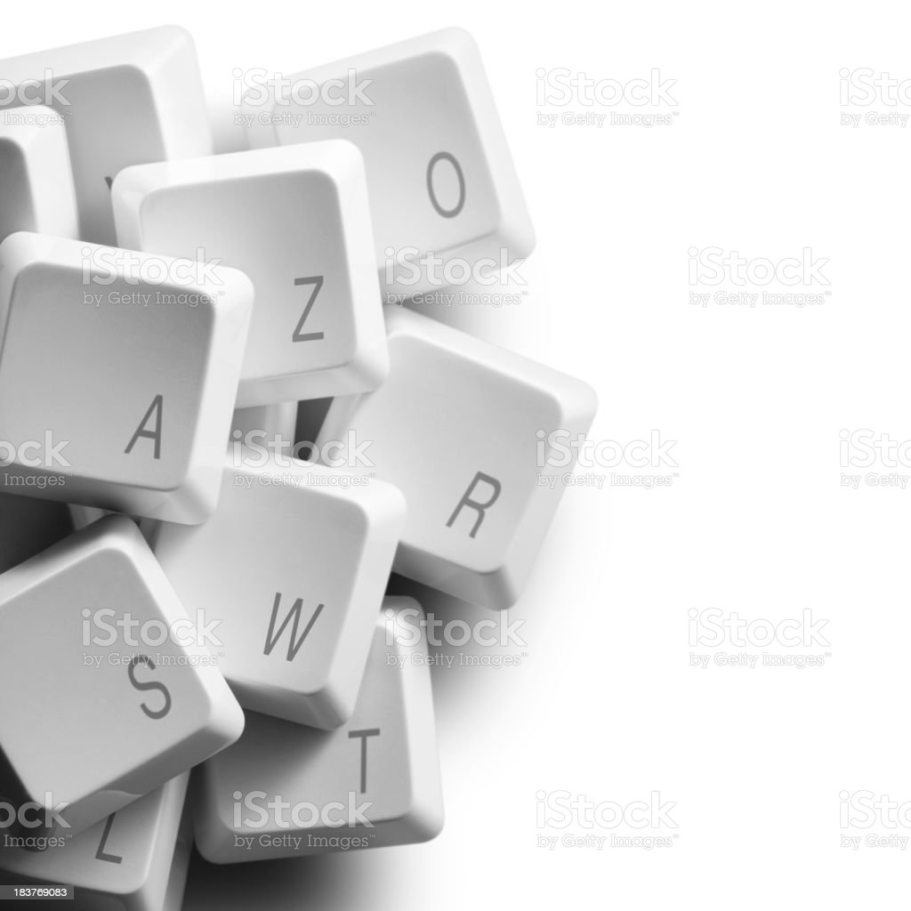 Write. Computer keys. royalty-free stock photo