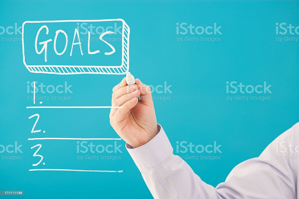 Write down your goals royalty-free stock photo