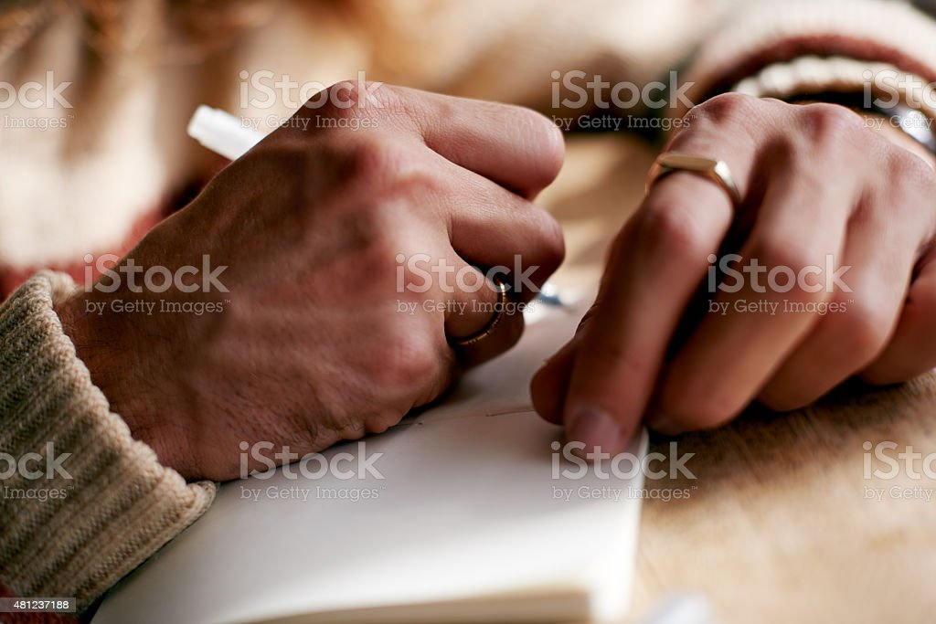 Write down your thoughts stock photo