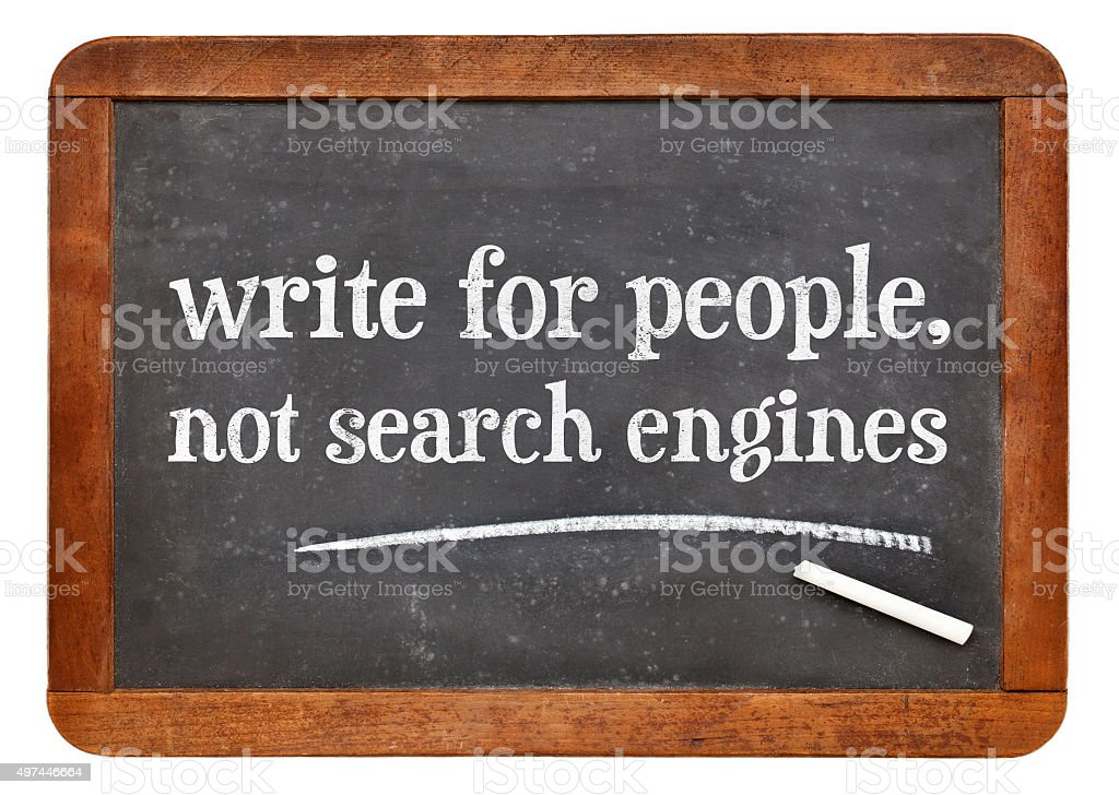write for people, not search engine stock photo