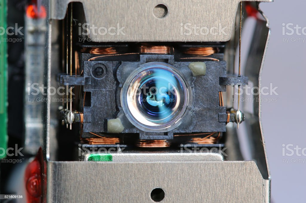 Write head laser discs from cd/dvd player. stock photo