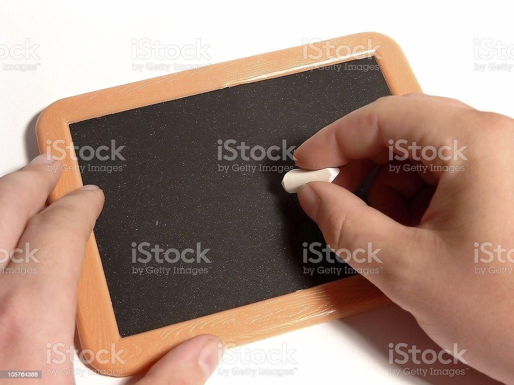 Write on blackboard royalty-free stock photo