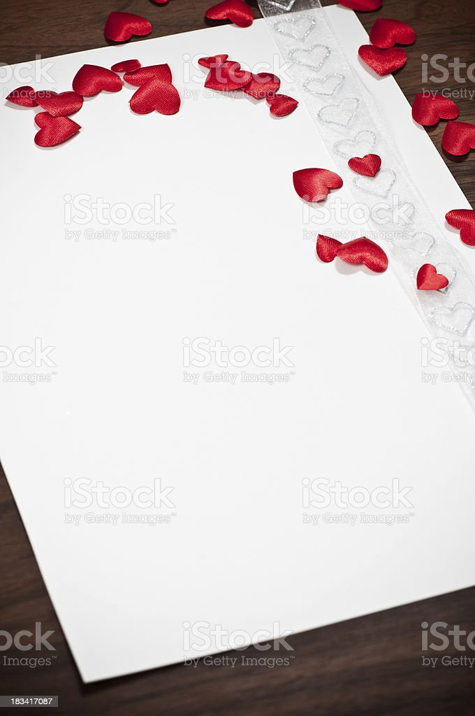write your love letter for valentine day stock photo
