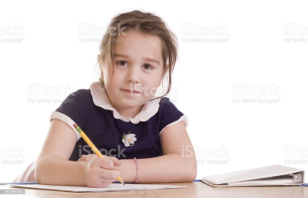 Writer at work royalty-free stock photo