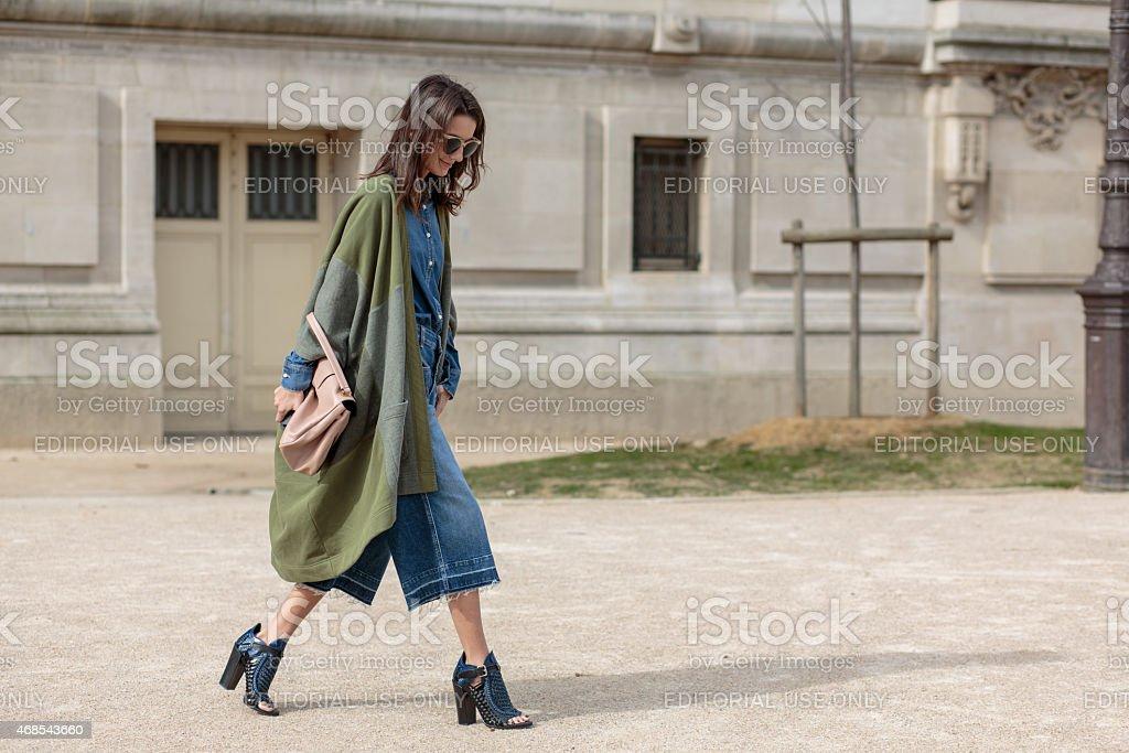 Writer Chloe Sachdev - Paris Fashion Week stock photo