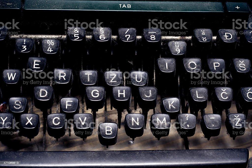 writer concept - typewriter keyboard royalty-free stock photo