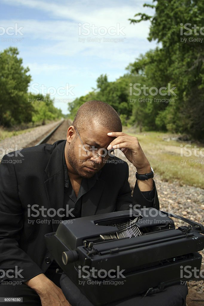Writer on the Tracks royalty-free stock photo
