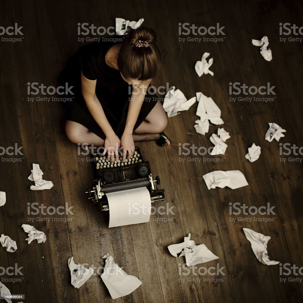 Writer stock photo