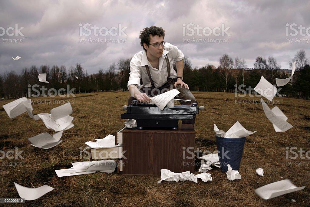 Writer stock photo