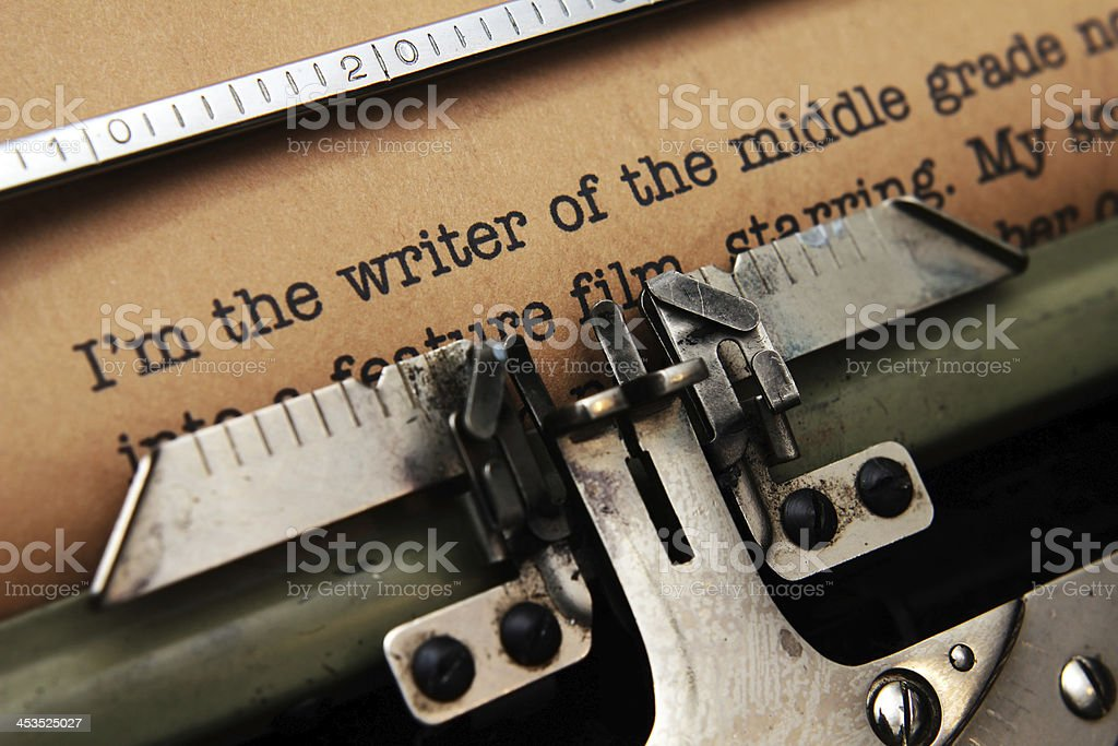 Writer story royalty-free stock photo
