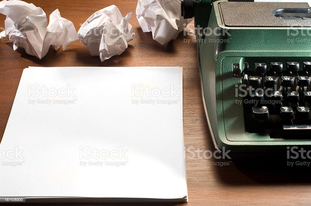 writer's block royalty-free stock photo