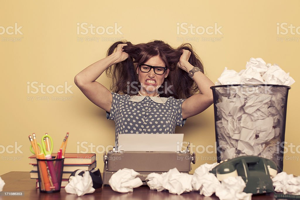 Writer's Block stock photo