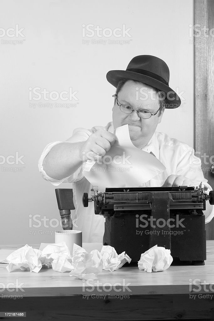 Writers block royalty-free stock photo