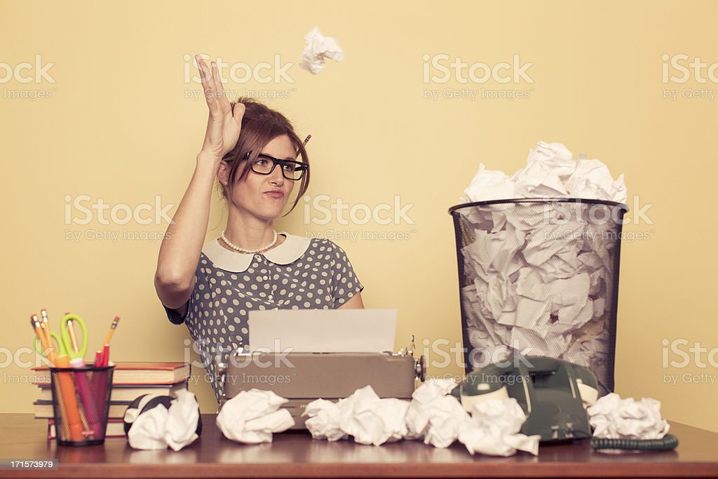 Writer's Cramp stock photo