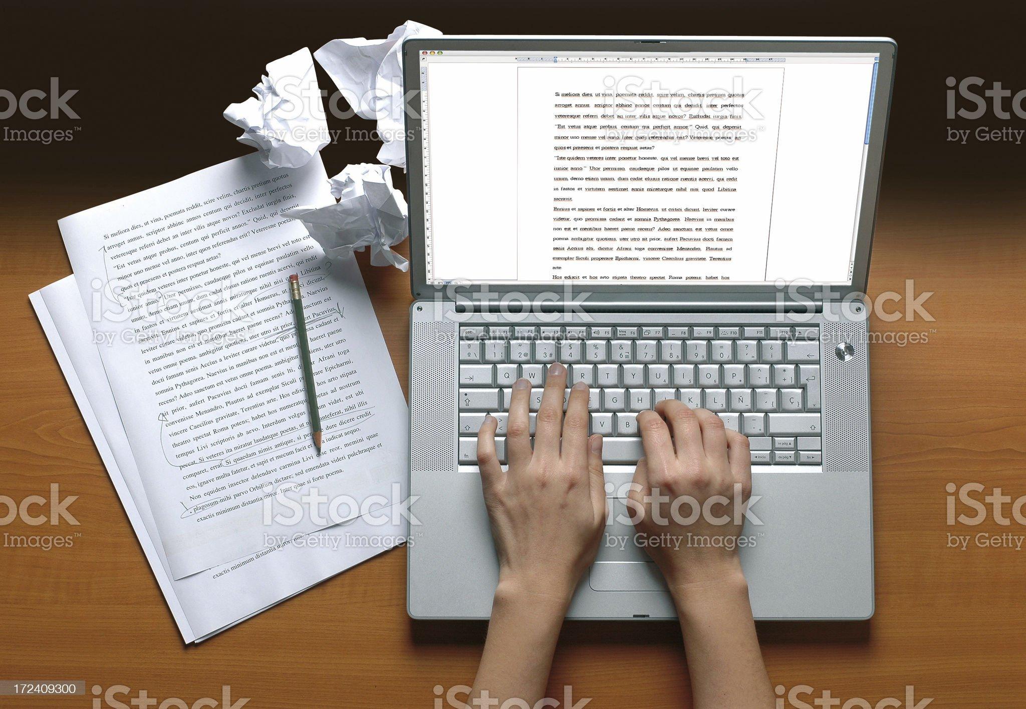 Writer's desk royalty-free stock photo