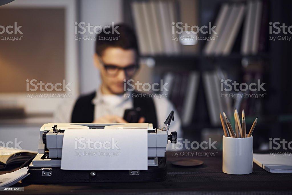 Writer's equipment stock photo