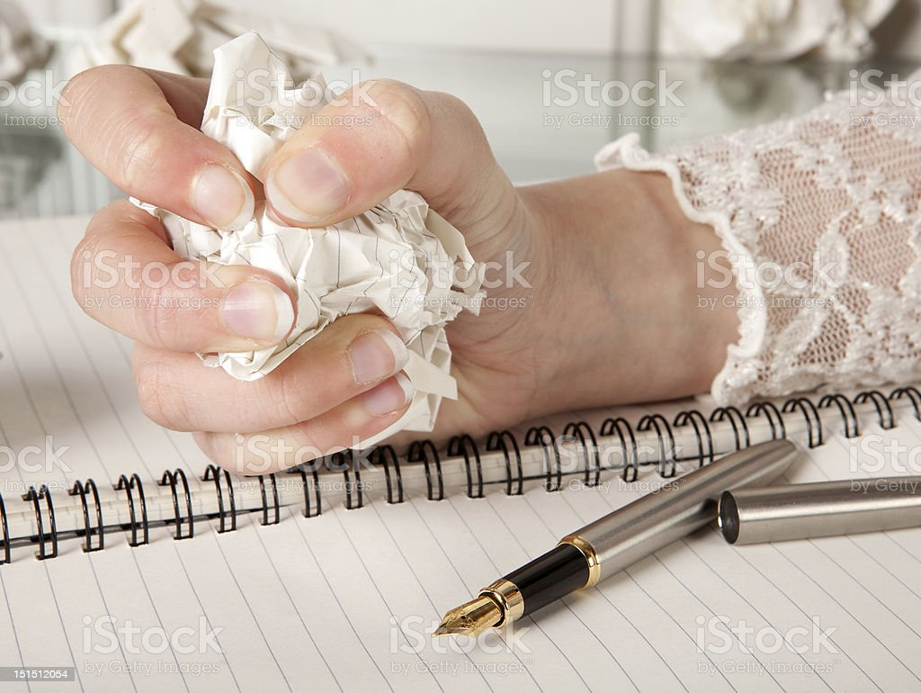Writer's frustration royalty-free stock photo