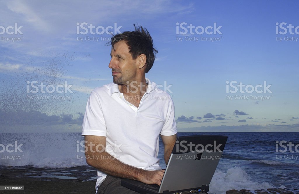 writer's ocean block royalty-free stock photo
