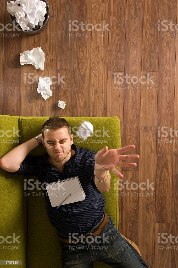 writer's thought bubble royalty-free stock photo