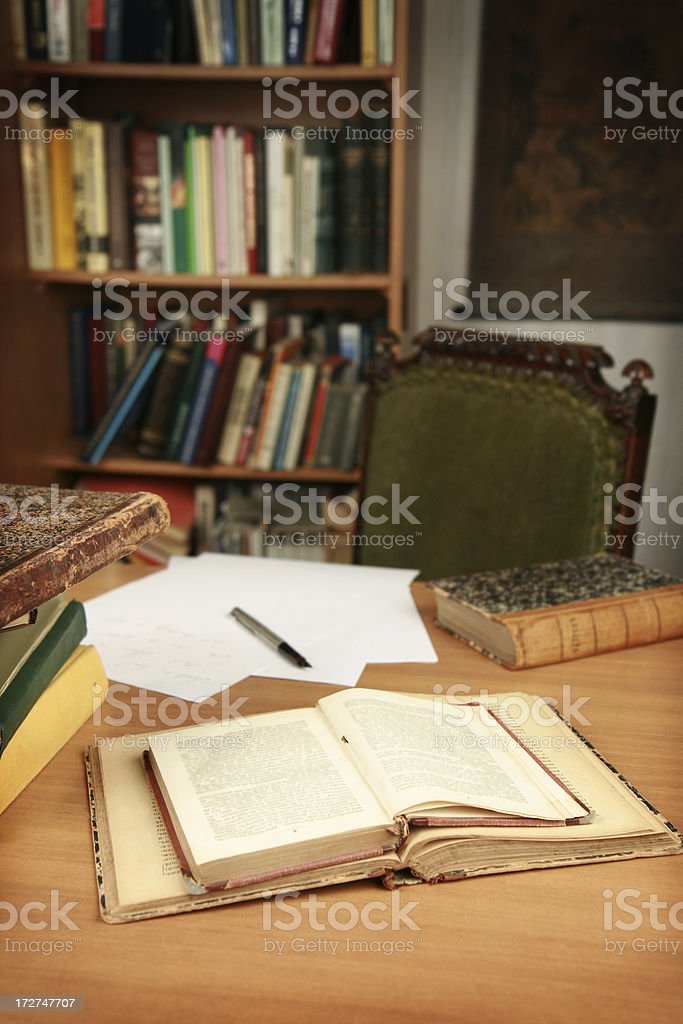 writer's workplace royalty-free stock photo