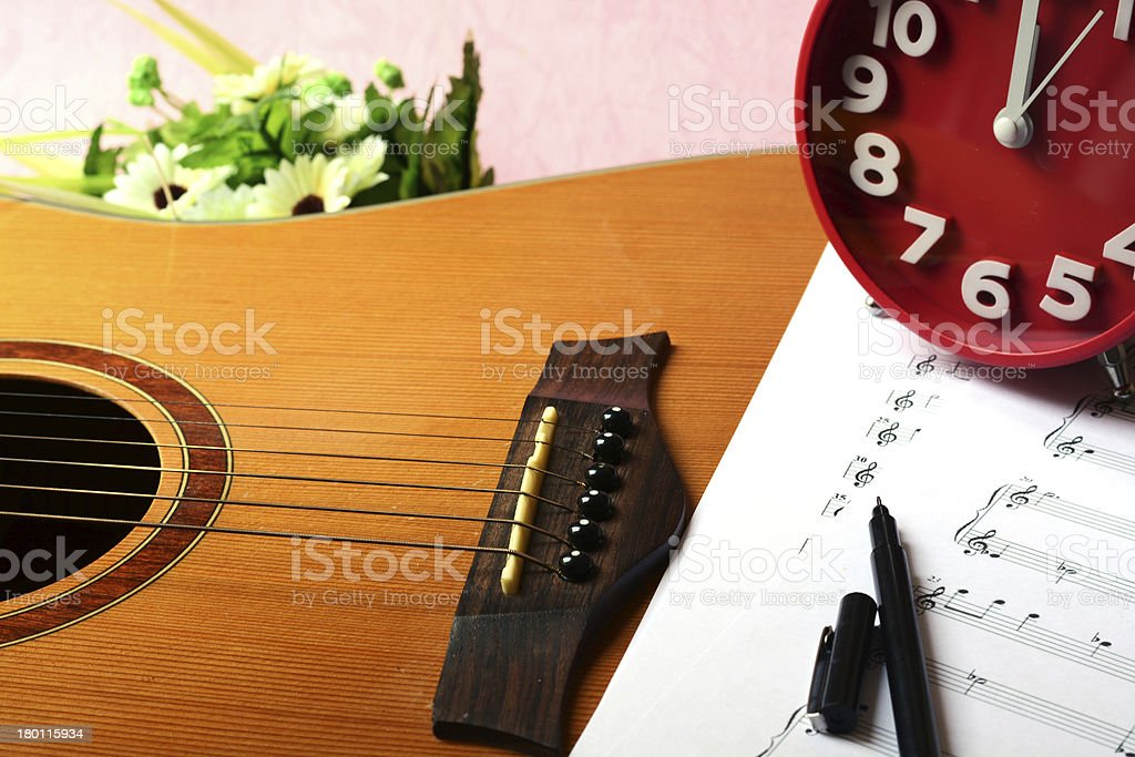writes on parer for notes stock photo