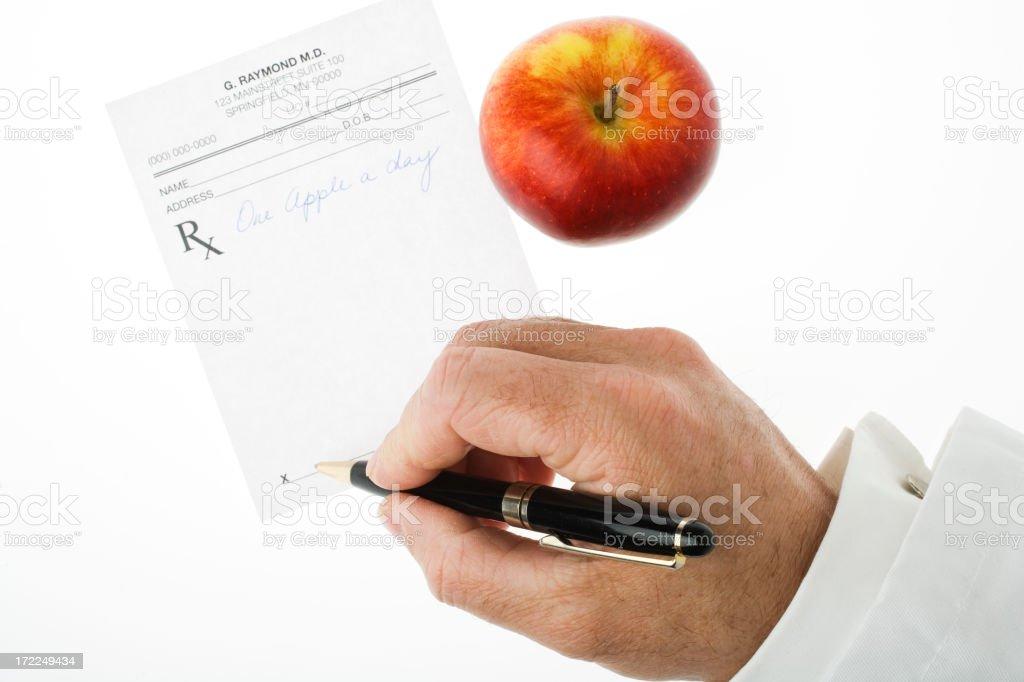 Writing a healthy prescription royalty-free stock photo