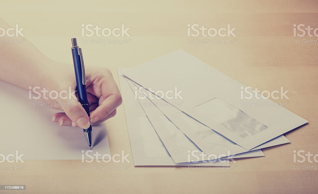 Writing A Letter Vintage Edit royalty-free stock photo
