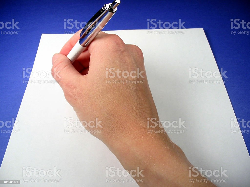 Writing A Note 2 stock photo