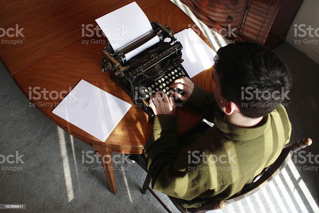 Writing a Novel royalty-free stock photo