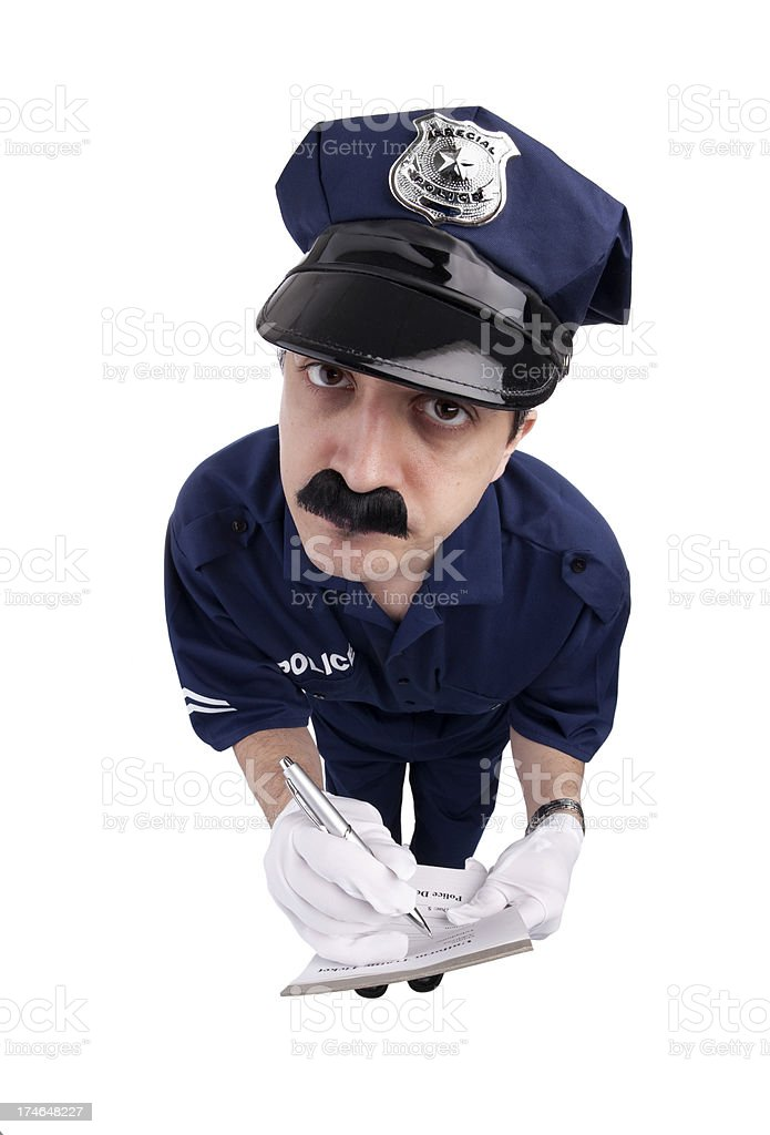 Writing A Ticket stock photo