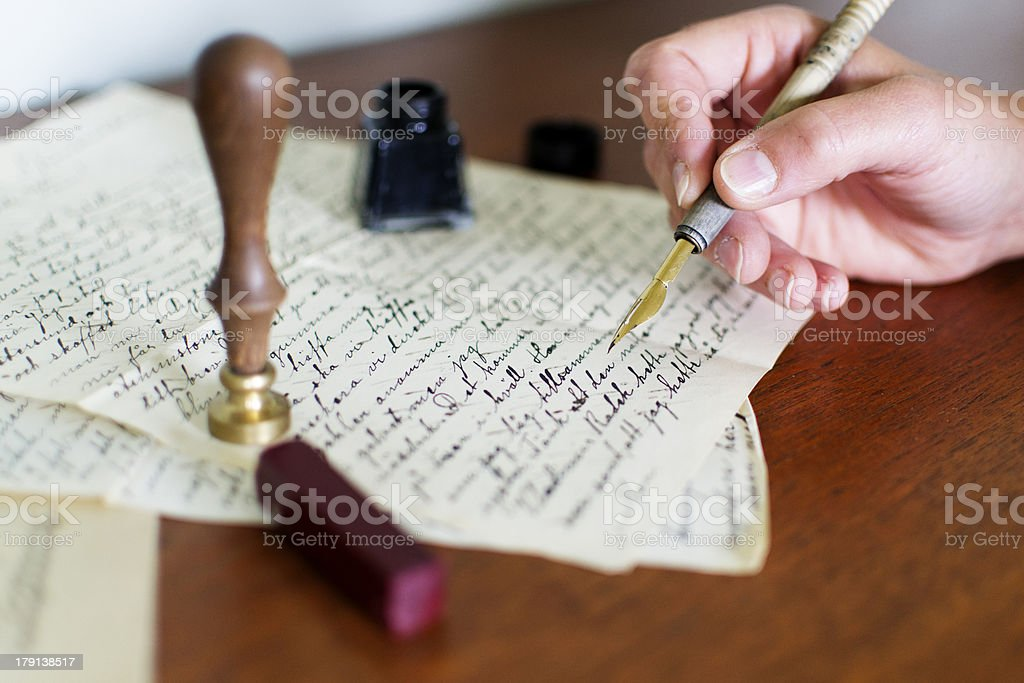 Writing a will royalty-free stock photo