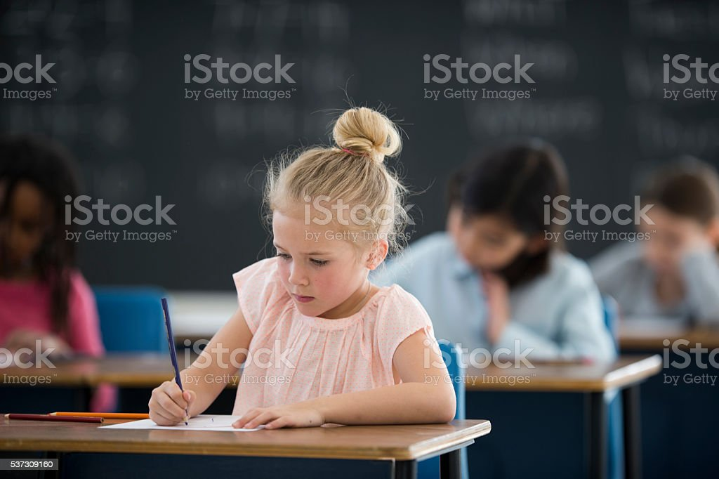 Writing an Assignment stock photo