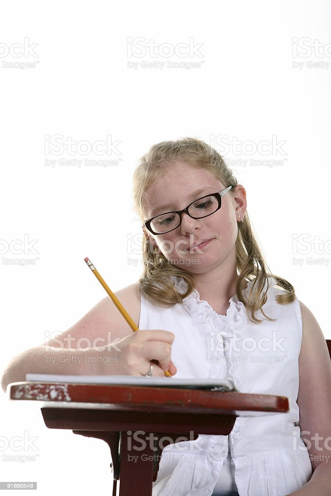 Writing at Desk royalty-free stock photo