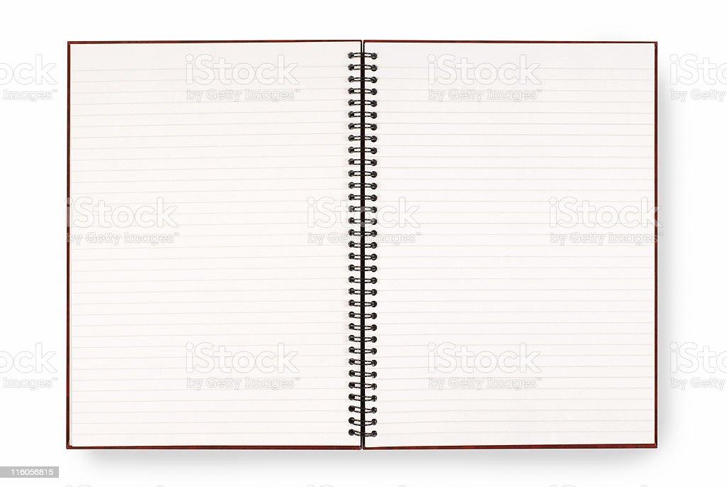 Writing book stock photo