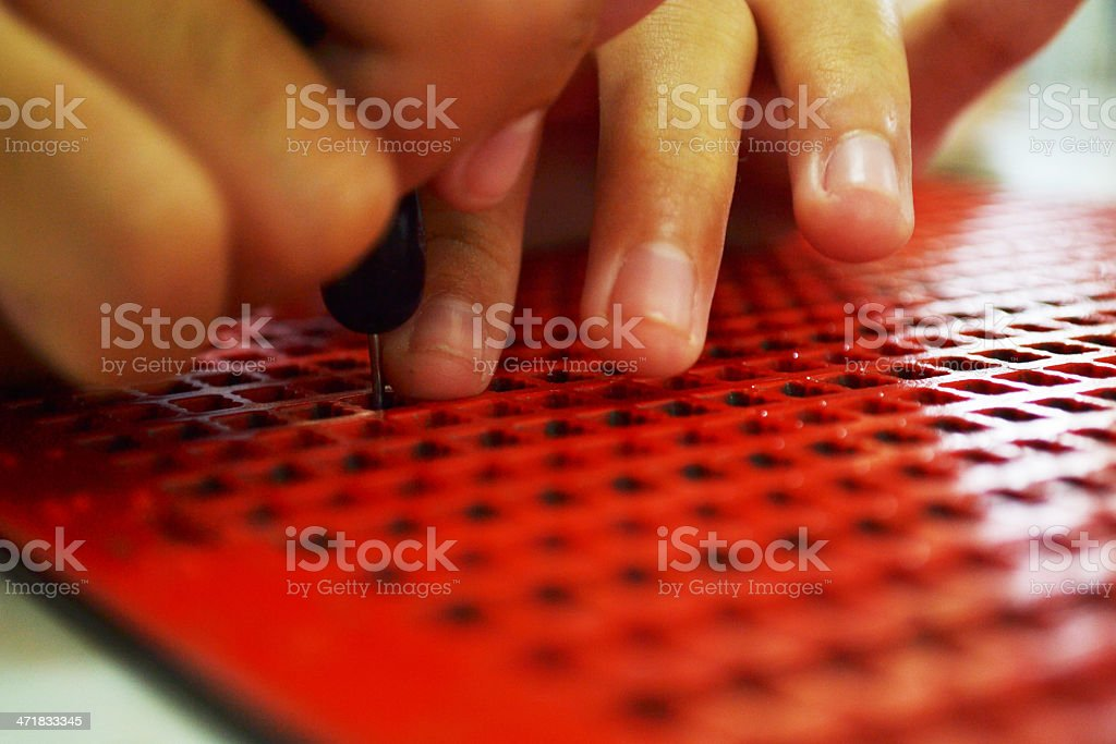 Writing braille royalty-free stock photo