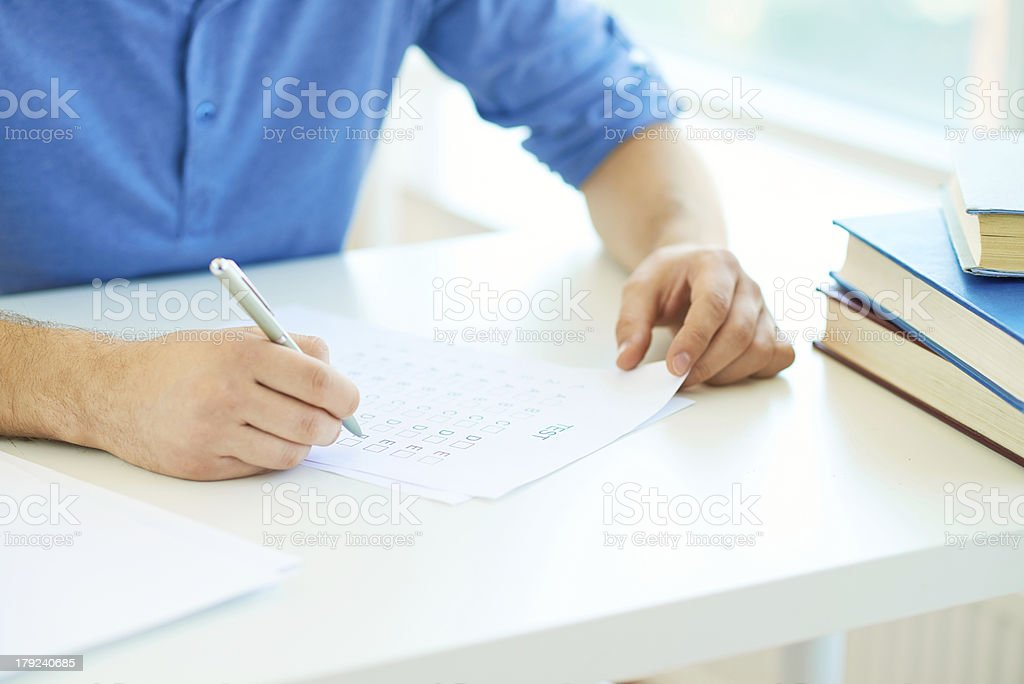 Writing course test royalty-free stock photo