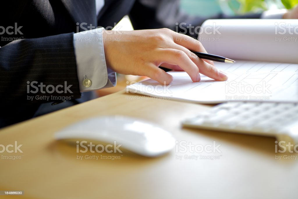 Writing documents royalty-free stock photo