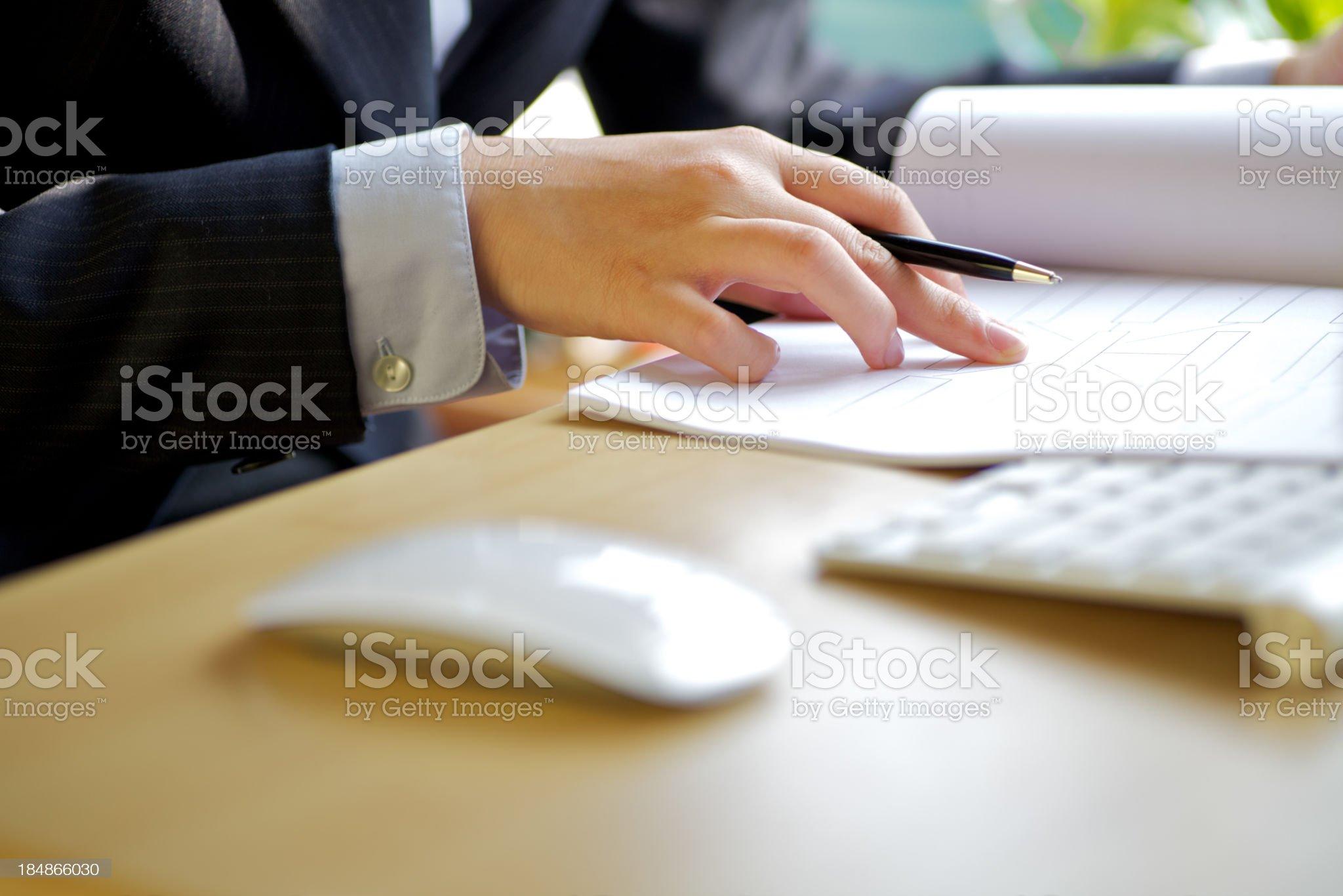Writing documents royalty-free stock photo
