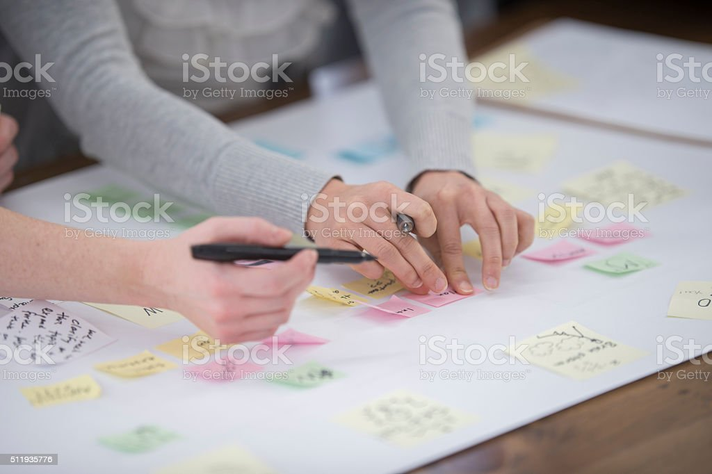 Writing Down New Ideas stock photo