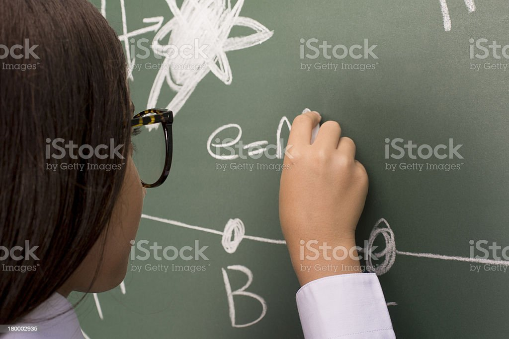Writing Formula royalty-free stock photo