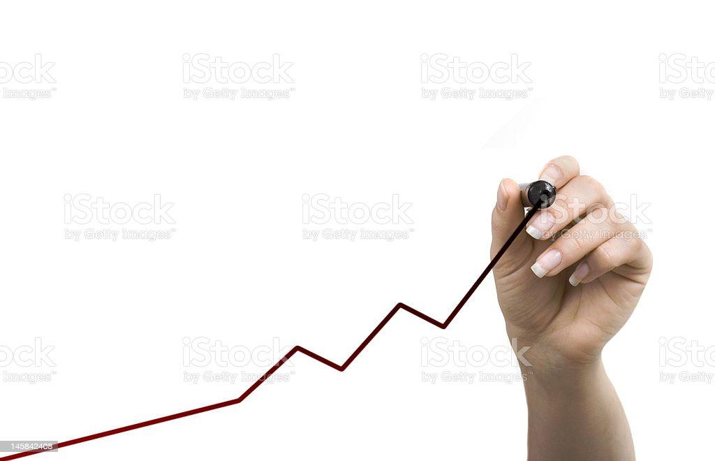 Writing Graph stock photo