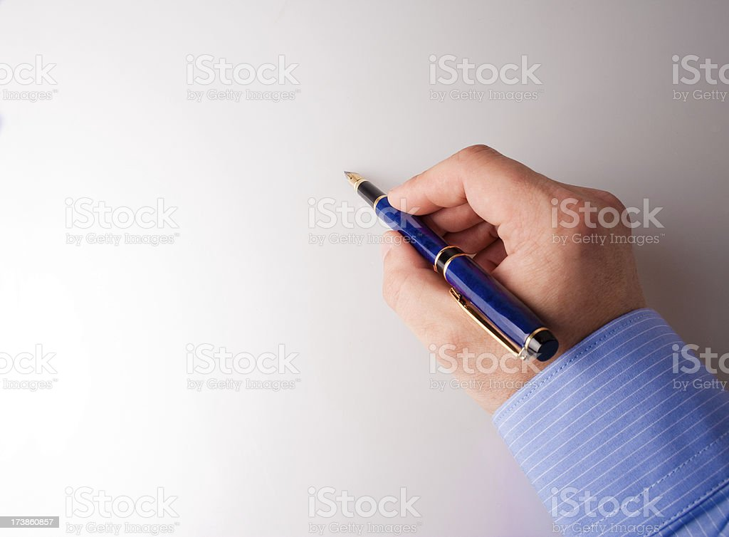 writing hand royalty-free stock photo