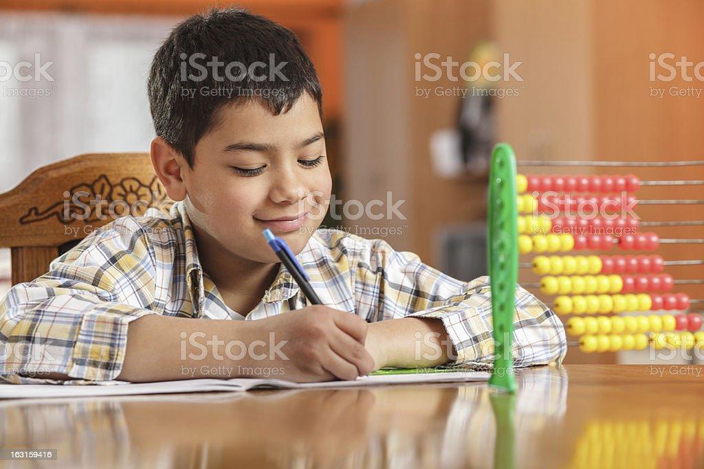 Writing homework royalty-free stock photo