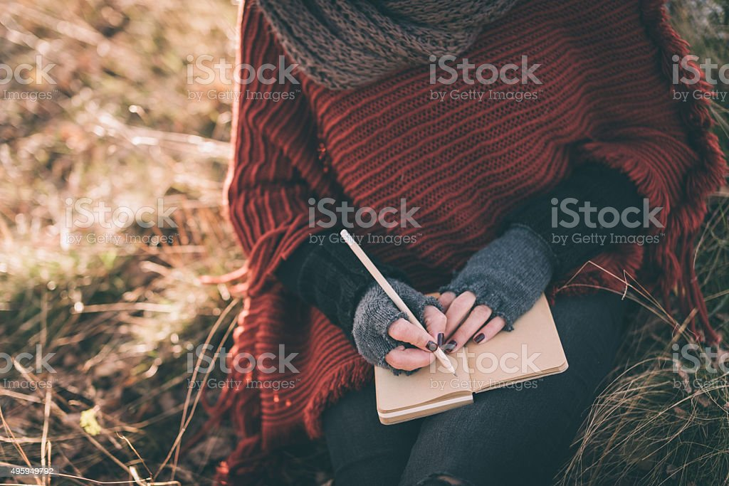 Writing ideas stock photo